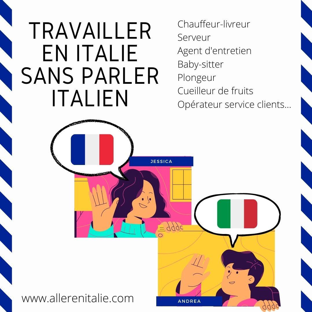 travailler en italie sans parler francais