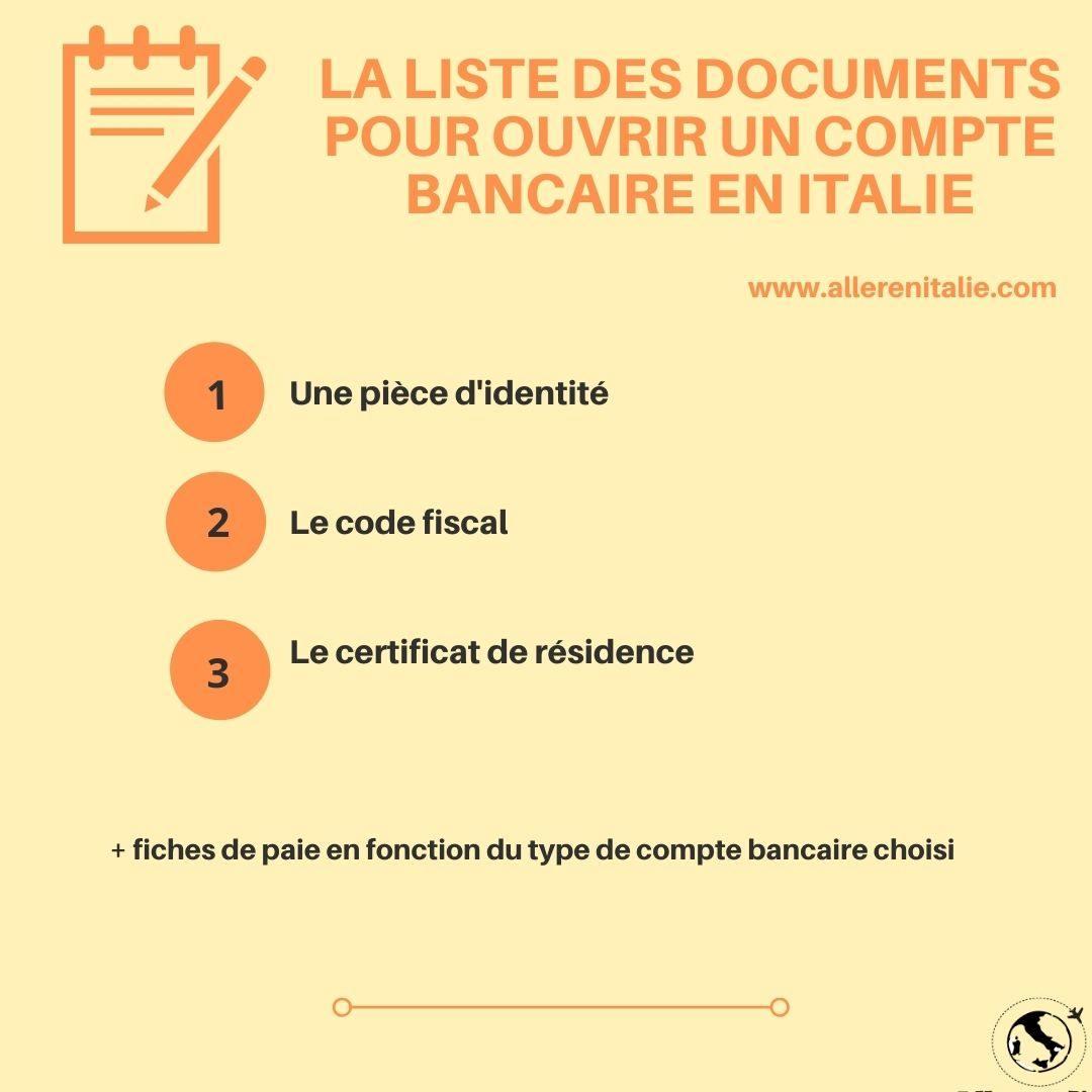 ouvrir compte bancaire italien
