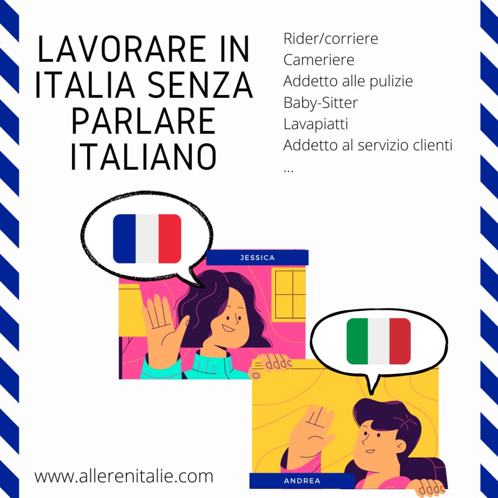 lavorare in Italia senza parlare italiano